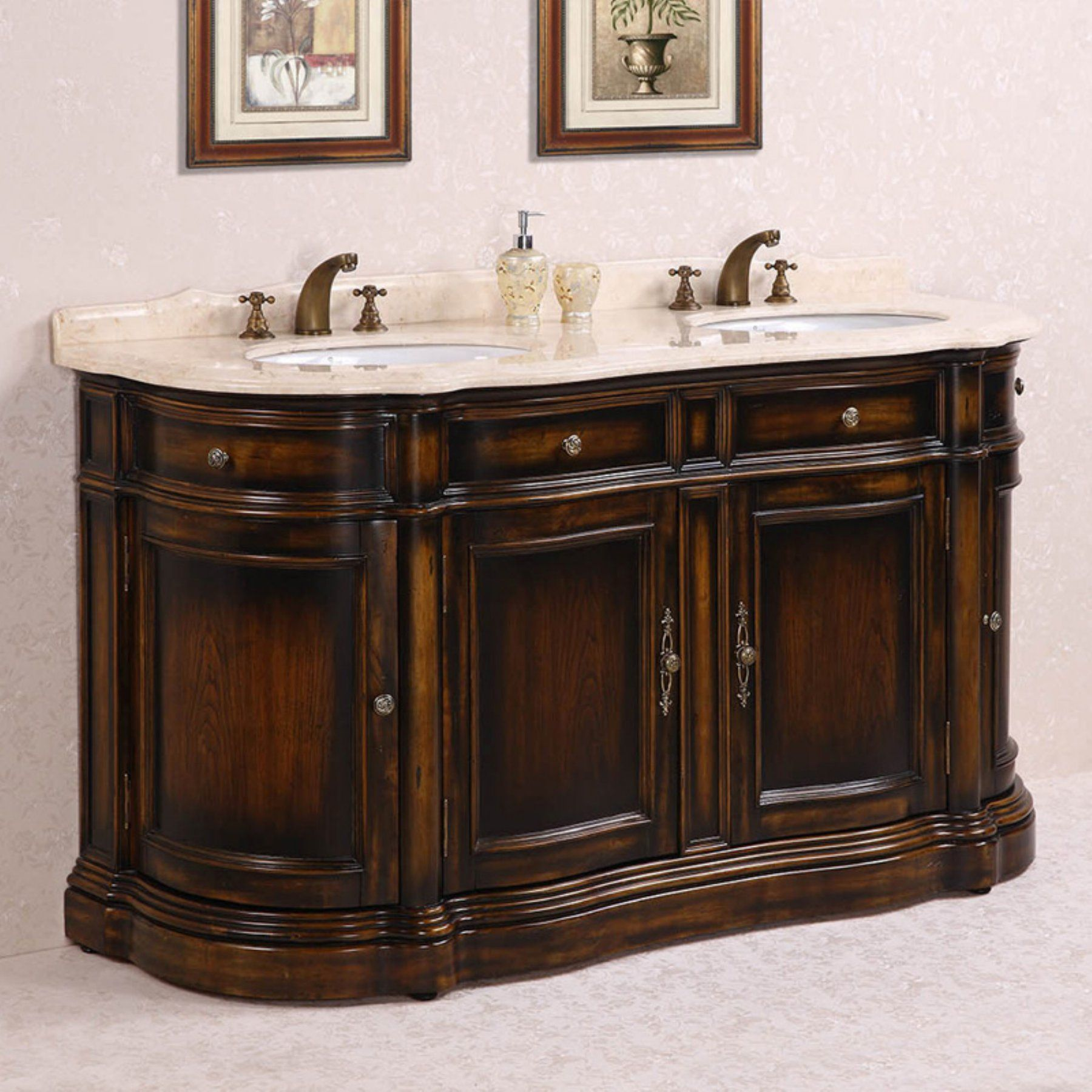 Legion Furniture Wh3066 66 In Double Bathroom Vanity Wh3066