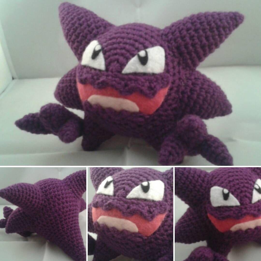 Haunter!  Pokemon  Haunter  Crochet  Handmade  art  Ghost  Ghosttype d7938f7600d6