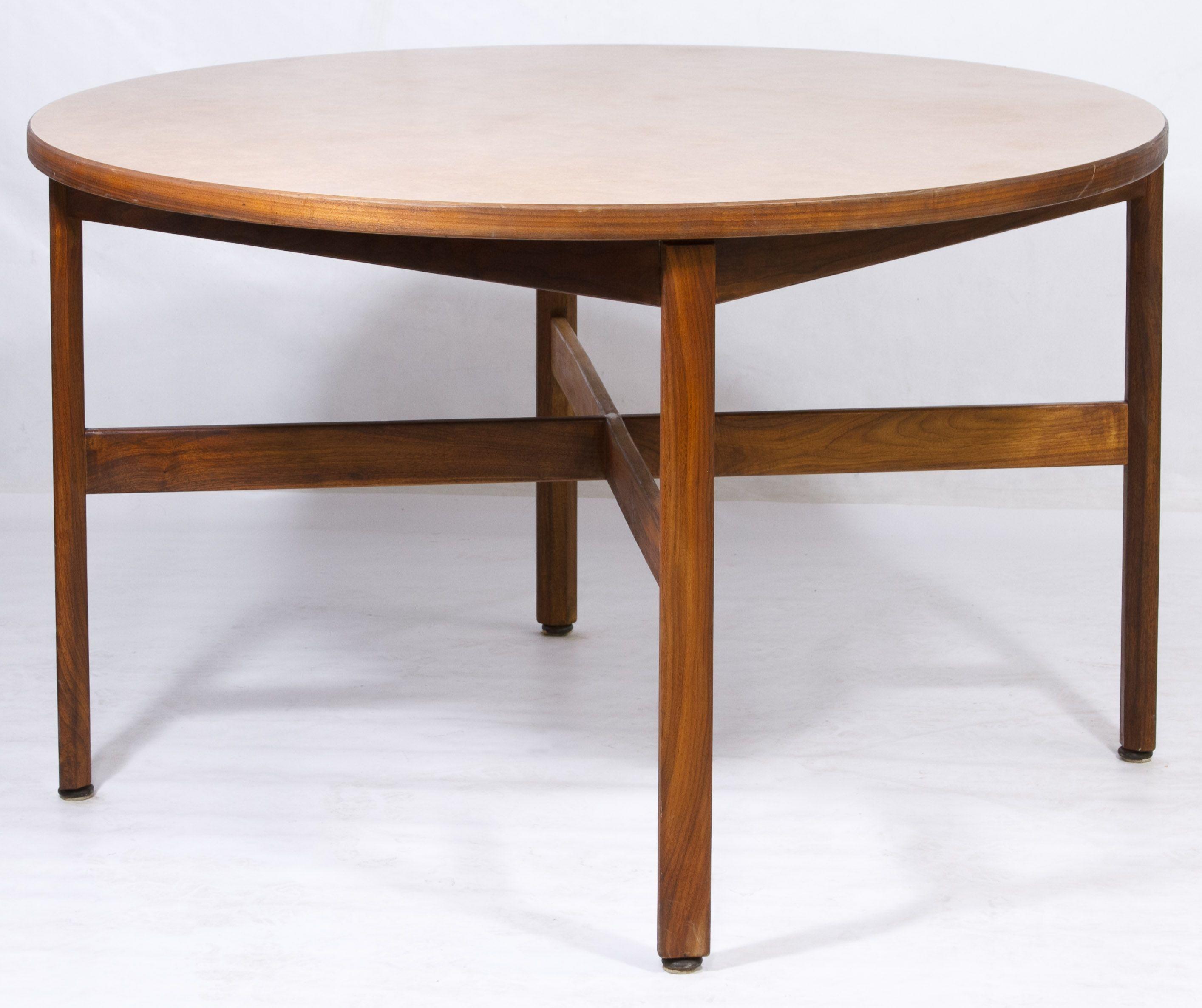 Lot 67 mid century modern walnut table by jens risom round table lot 67 mid century modern walnut table by jens risom round table on geotapseo Choice Image