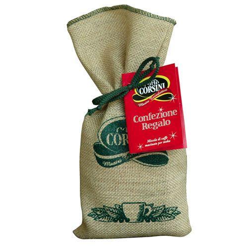 Caffè Corsini - Pacchetto Natalizio: CHRISTMAS GIFT 1 PACK CAFFE' CORSINI COFFEE + JUTE BAG #eShop #ArtigianatoaPalazzo #coffee