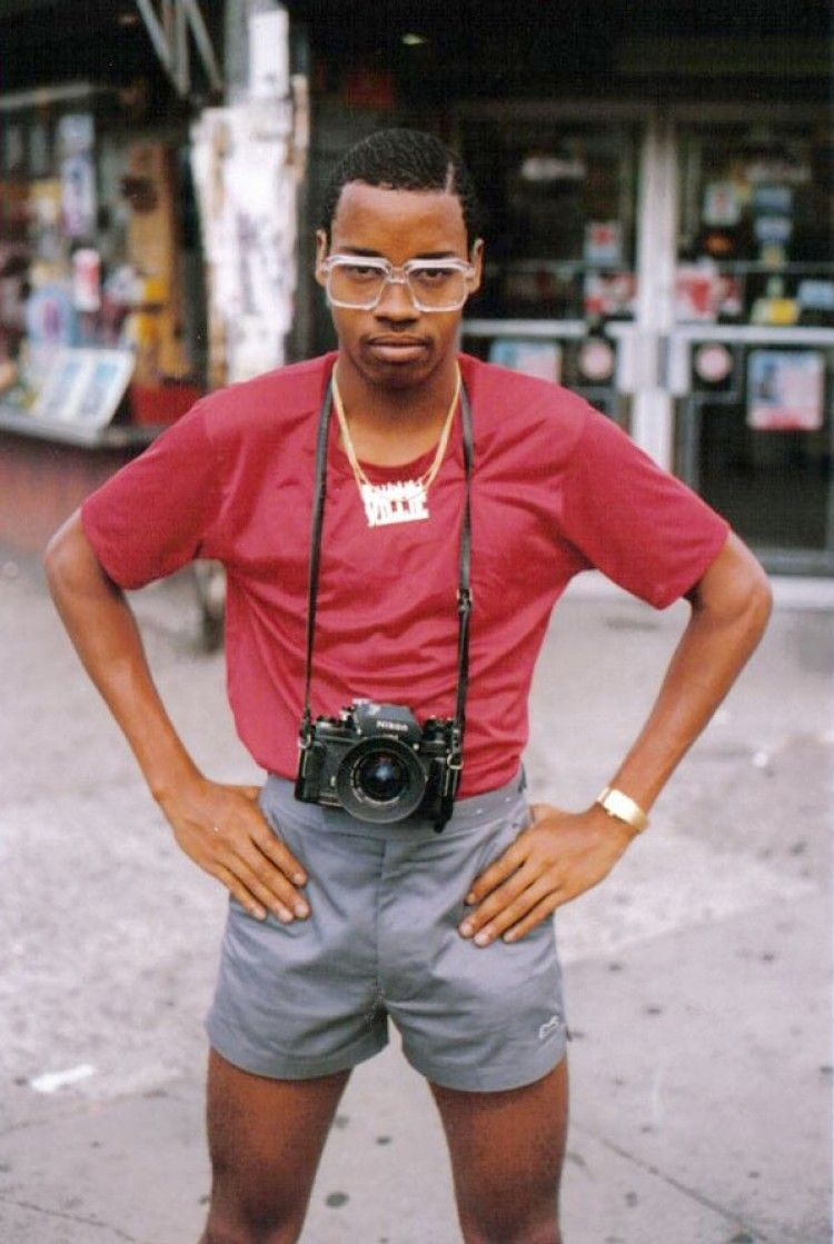 This is an image by Jamel Shabazz... Brooklyn in the 80s. Funny