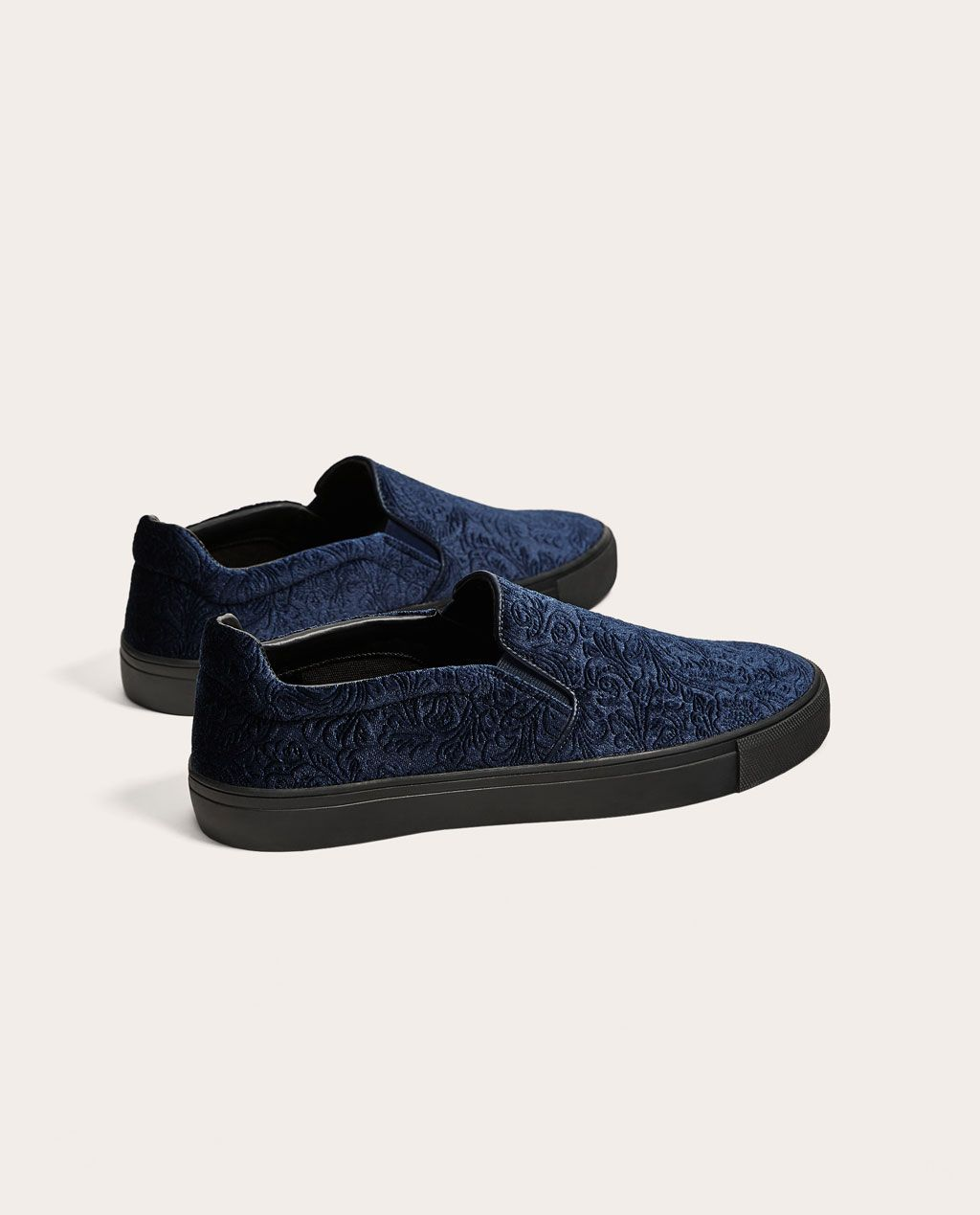 BLUE VELVET SNEAKERS - SHOES AND ACCESSORIES-SALE-MAN