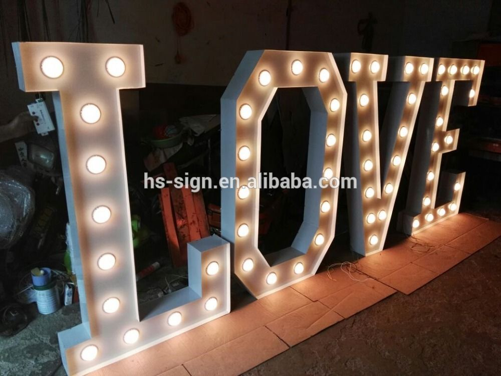 Custom RGB LED Lighted Marquee Sign Metal Alphabet letter