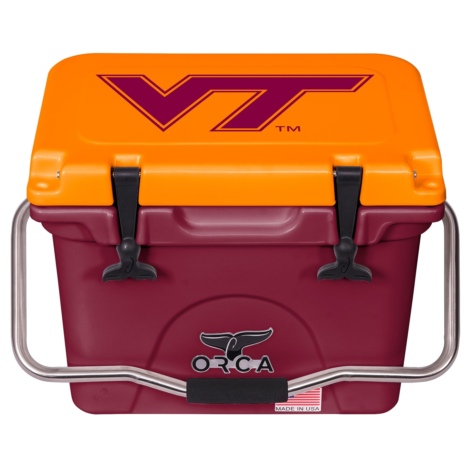 Virginia Tech Hokies Orca 20 Quart Hard Sided Cooler Maroon Virginia Tech Hokies Hokies Virginia Tech
