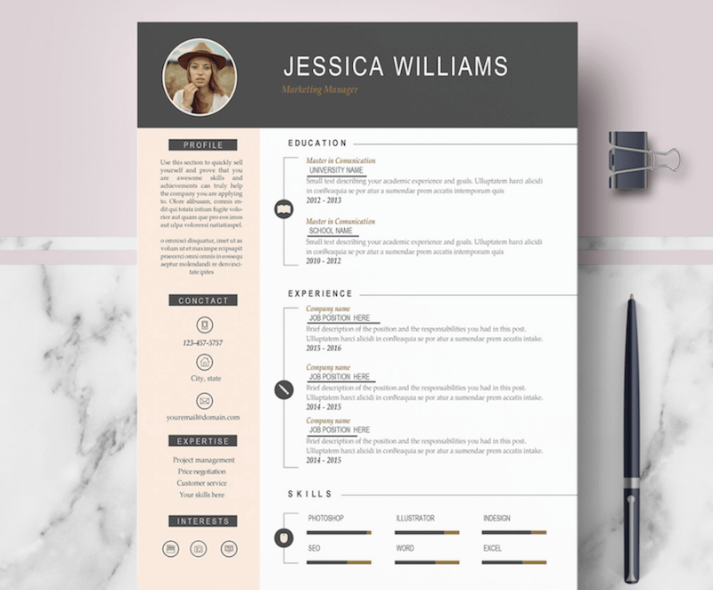 Pin On Attractive Resume Templates Free Download