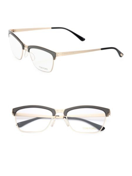 d600184d53 Tom Ford Eyewear - 54MM Metal Soft Square Optical Glasses