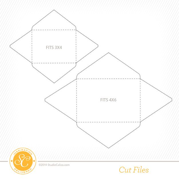 Free Envelope Cut Files By Julie Campbell  Designed To Fit X