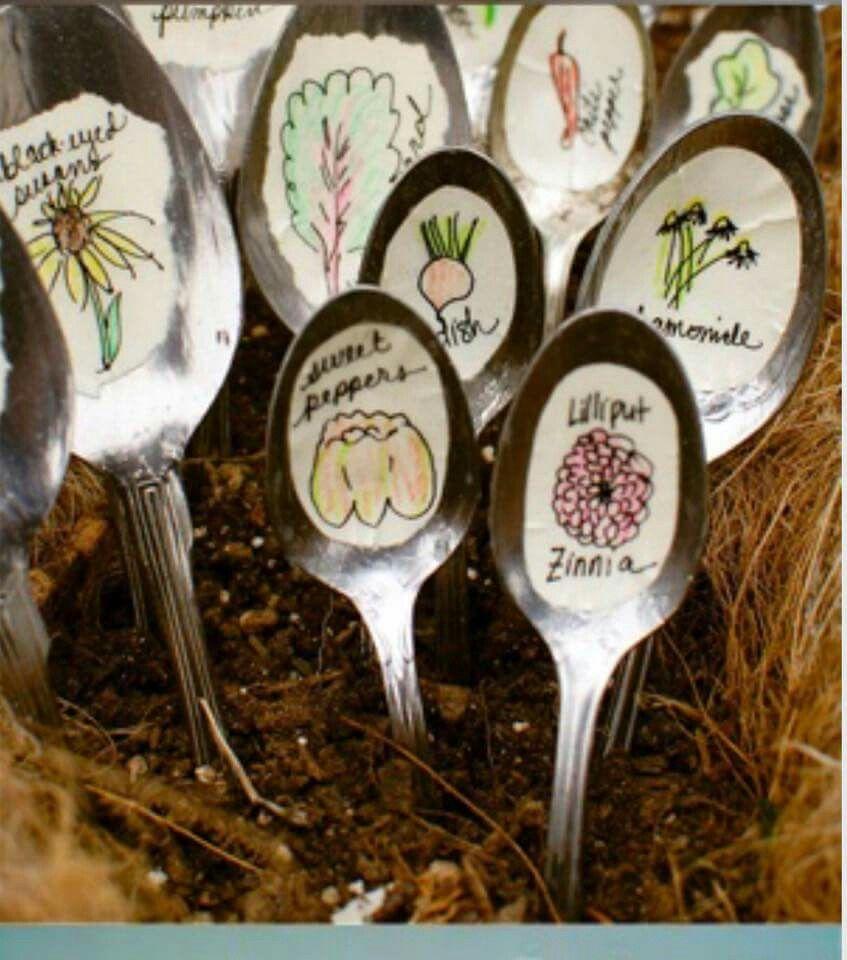 Little spoons in garden   jaxnrix create   Pinterest   Spoon