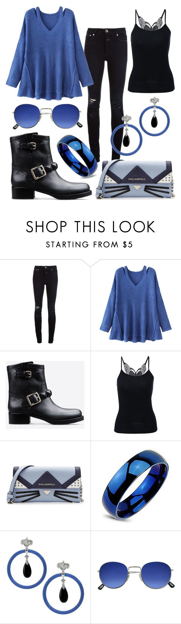 """""""503"""" by robertaelisa ❤ liked on Polyvore featuring Closed, WithChic, Valentino, Karl Lagerfeld and Dallas Prince"""