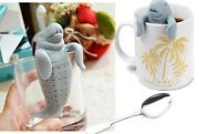Manatee Infuser Silicone Loose Tea Leaf Strainer Herbal Spice Filter Diffuser HA