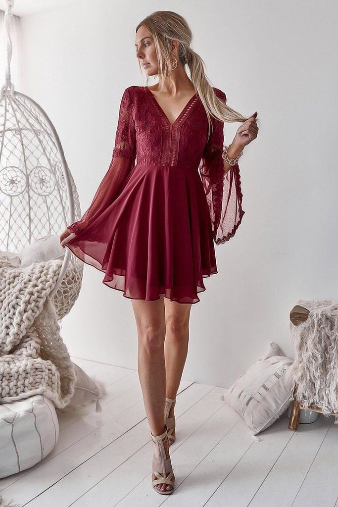 Bethany Dress - Red