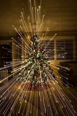 """Another pinner says: """"Zoomed out while taking a picture of my Christmas tree"""""""