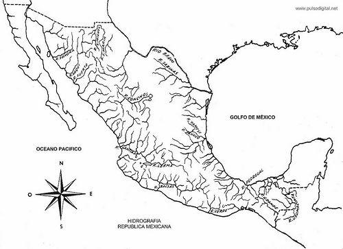 Pulso Digital Mapa De La Hidrografia De Mexico Mapa De Mexico Mapa De America Del Sur Imagenes De Mapas