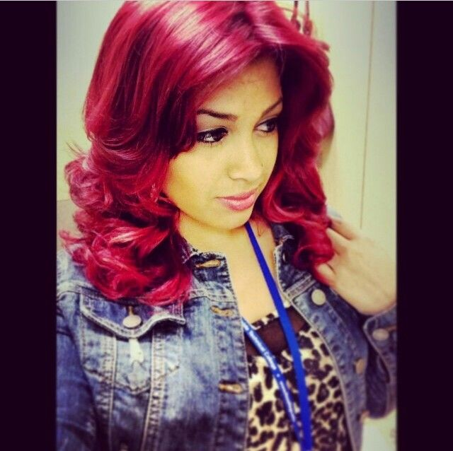 My Hair Magenta Using Loreal Excellence Hi Color For Dark Hair Only