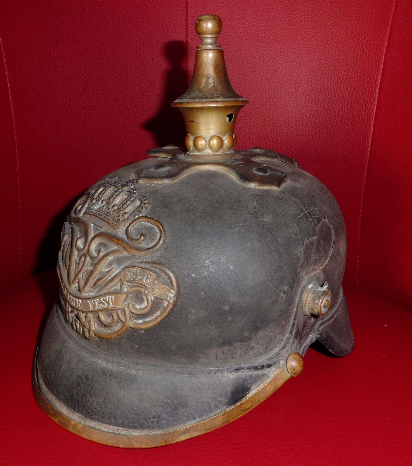 rare helmet police berlin spike helmet pickelhaube ebay. Black Bedroom Furniture Sets. Home Design Ideas