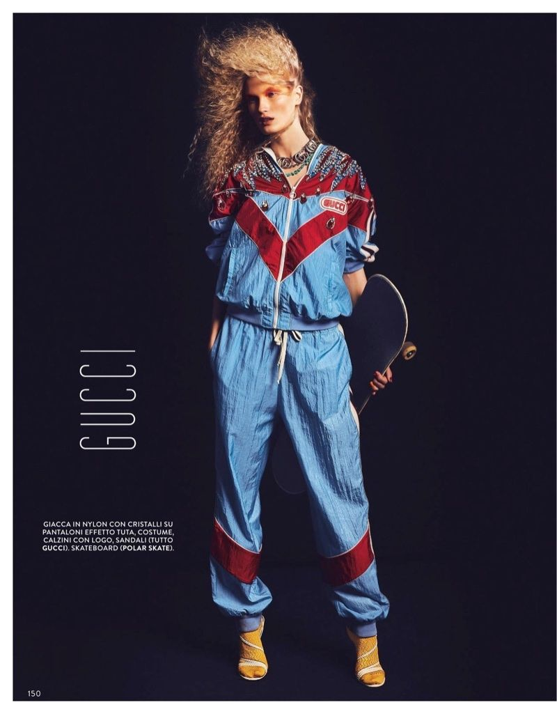 Ali Osk Embraces Sporty Glam Fashion for Grazia It