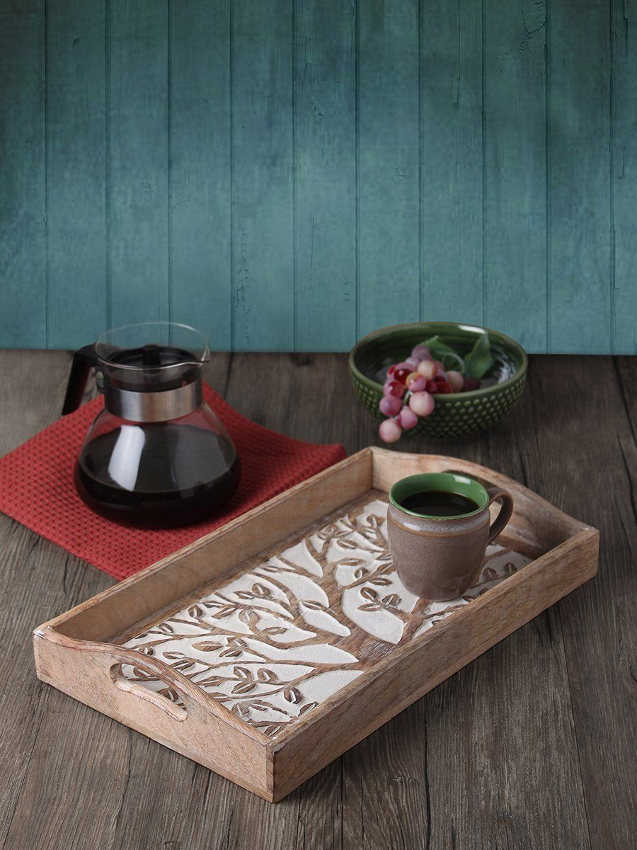 Amazon.com | Store Indya Tree of Life Rustic Large Wooden Serving ...