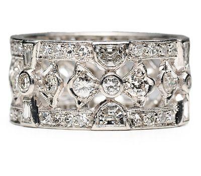 Spectacular Art Deco Diamond Band - The Three Graces ...