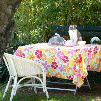 Nappe Enduite Orange Fleurie Par Fleur De Soleil Deco Jardin