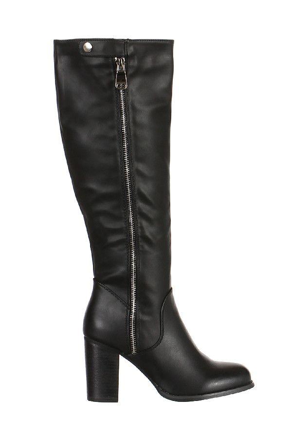 Černé dámské kozačky s vysokým podpatkem - koupit online na Glara.cz  glara    56bfac3e41