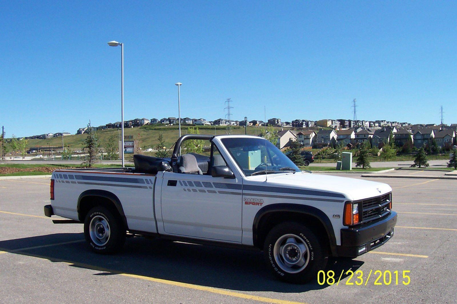 Convertible pickup survivor 1990 dodge dakota https barnfinds com