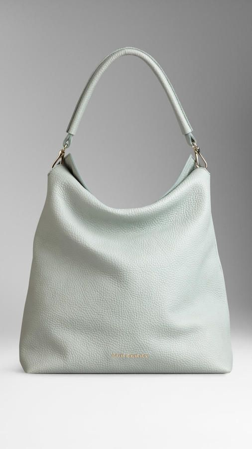 6ceddb2582f6 Burberry Medium Leather Hobo Bag on shopstyle.com