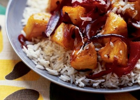 Hawaiian style sweet and sour roasted pineapple and bell peppers this tropical medley is a fresh alternative to a vegetable side dish forumfinder Images
