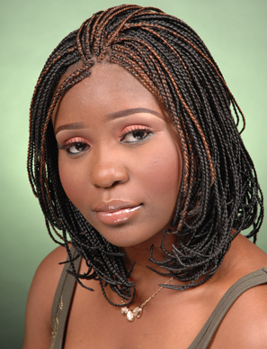 Pixie Braids For Round Face Png 297