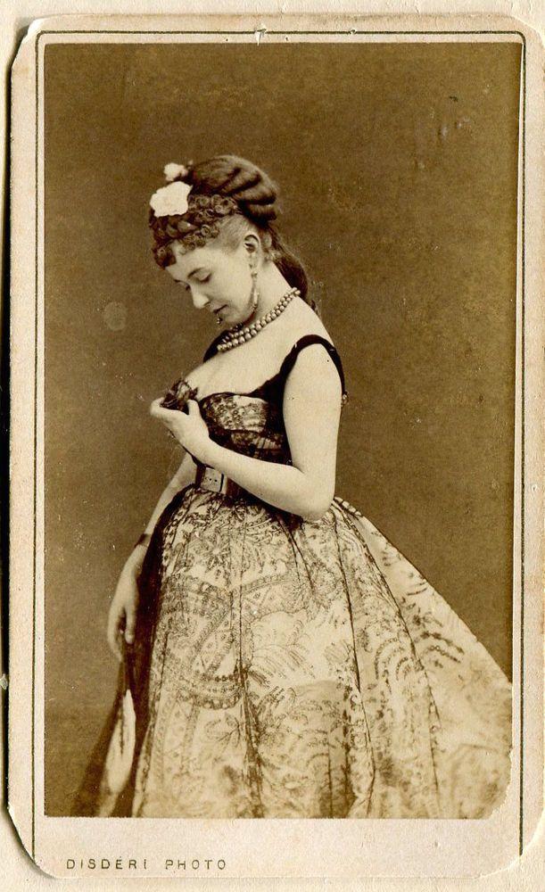Carte De Visite France Disderi Courtesan Cora Pearl 1870 Sensitive Study