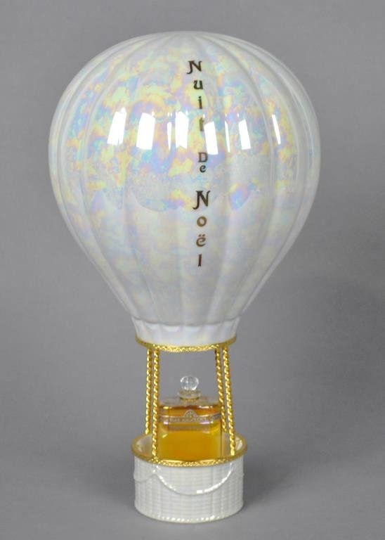 *NUIT DE NOEL BY CARON FRENCH PERFUME in Artoria Limoges limited edition porcelain hot air balloon with box.