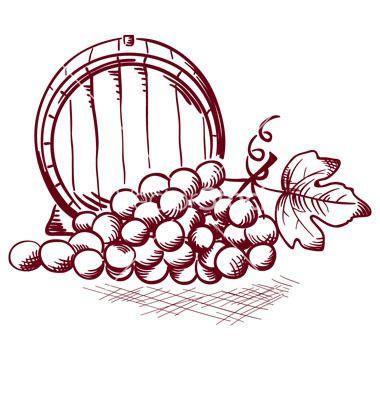 Wine Barrel On Vectorstock Grape Drawing Wine Barrel Pyrography Patterns