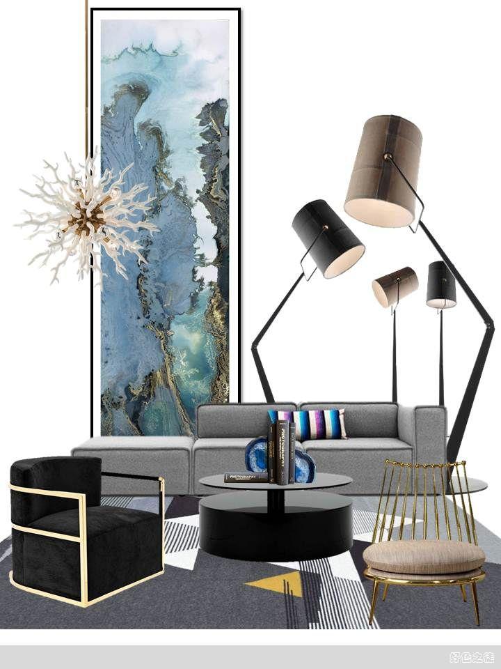 Pin By Zhangpei On C茶几 Colorful Decor Interior Concept Interior Design Mood Board