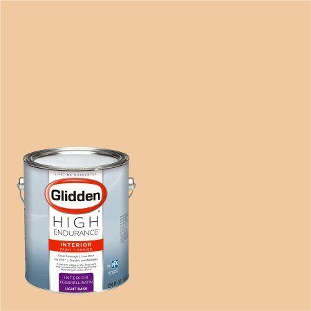 Glidden High Endurance Paint, Glazed Peach #00YY 62/255 Eggshell 1 Gallon (Base UPC 0113118440267) Color Glazed Peach, Green
