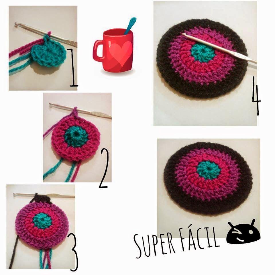 Posa Vasos a Crochet | Ideas para el hogar | Pinterest