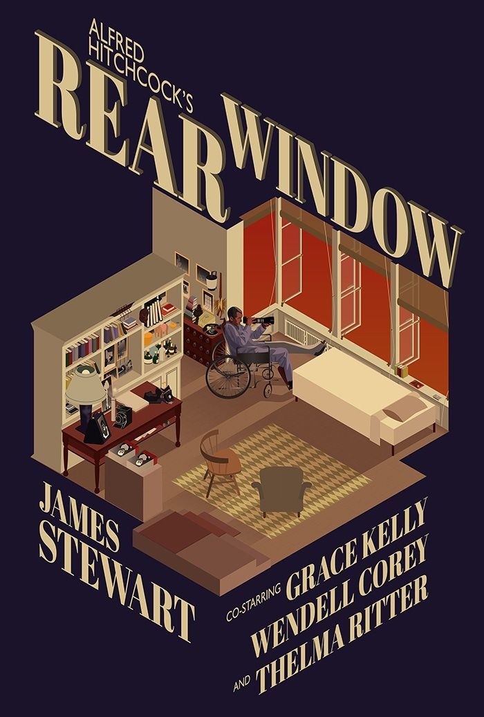 Rear Window by Ollaway is part of Movie posters design, Alternative movie posters, Film poster design, Window poster, Movie posters vintage, Movie posters - www mikehollowaydesign com