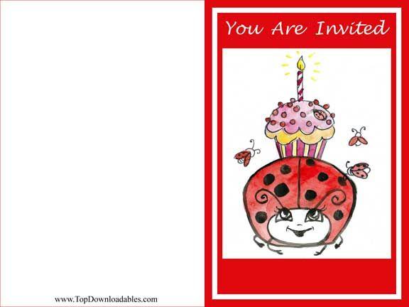 Free Printable Ladybug Decoration Invitation Template