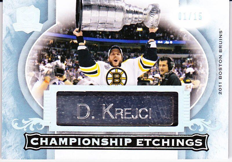 1516 The Cup David Krejci Championship Etchings Hockey