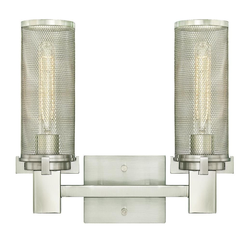 Photo of Westinghouse Adler 2-Light Brushed Nickel Wall Mount Bath Light 6330400 – The Home Depot