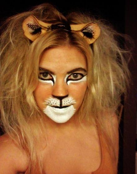 My Last Year\u0027s Lion Face Paint  homemade ears! Pintacaritas - face painting halloween ideas