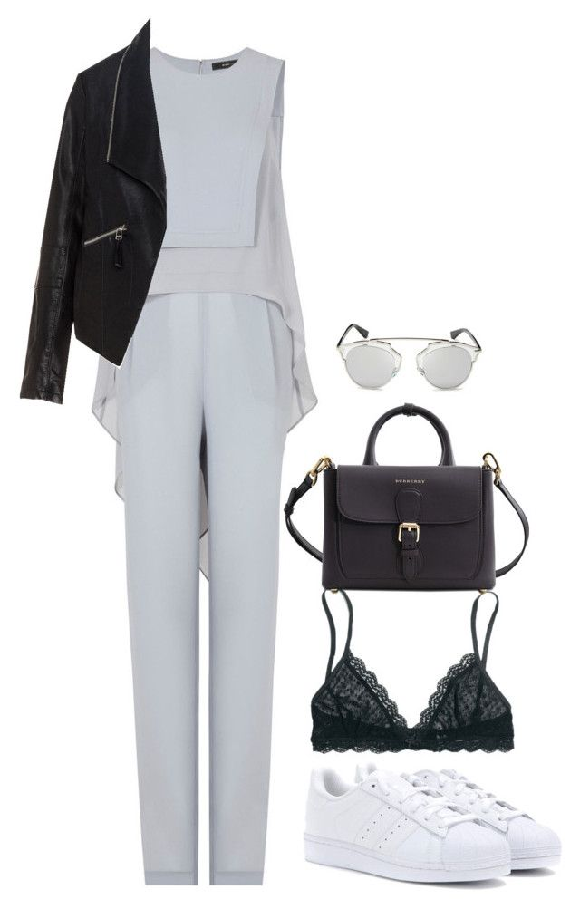 """""""Untitled #65"""" by ditteknight on Polyvore featuring BCBGMAXAZRIA, adidas, Madewell, Zizzi, Burberry and Christian Dior"""