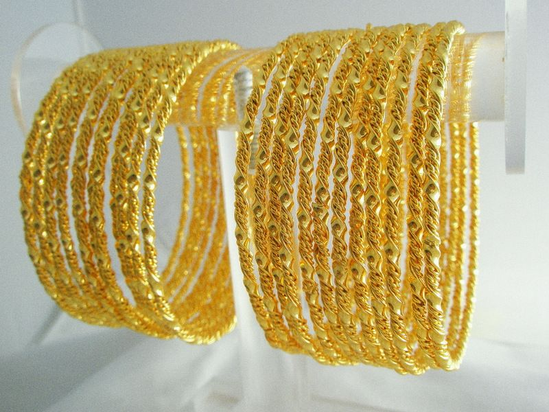 Gold Bangles From India | How to wear Indian Gold Plated Bangles ...