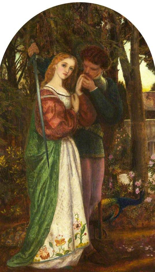 Arthur Hughes Lovers Tryst Pre Raphaelite Art Pre Raphaelite