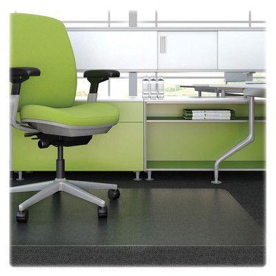 Deflecto Low Pile Carpet Straight Edge Chair Mat