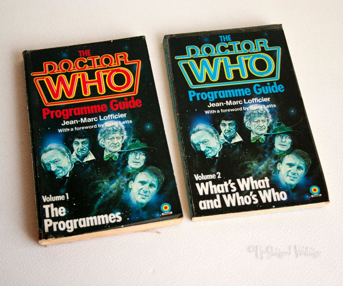 The DOCTOR WHO Programme Guide Volumes 1 & 2 by Jean-Marc Lofficier by UpStagedVintage on Etsy