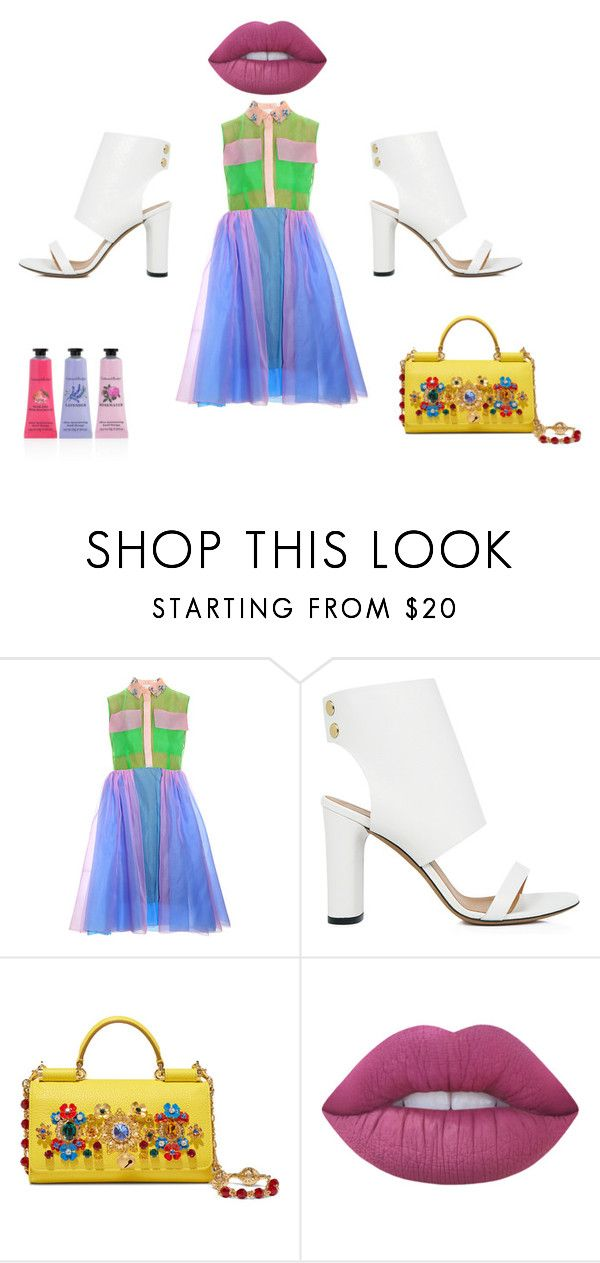 """""""Lips for Kissing"""" by mydesignplace on Polyvore featuring IRO, Dolce&Gabbana, Lime Crime and Crabtree & Evelyn"""