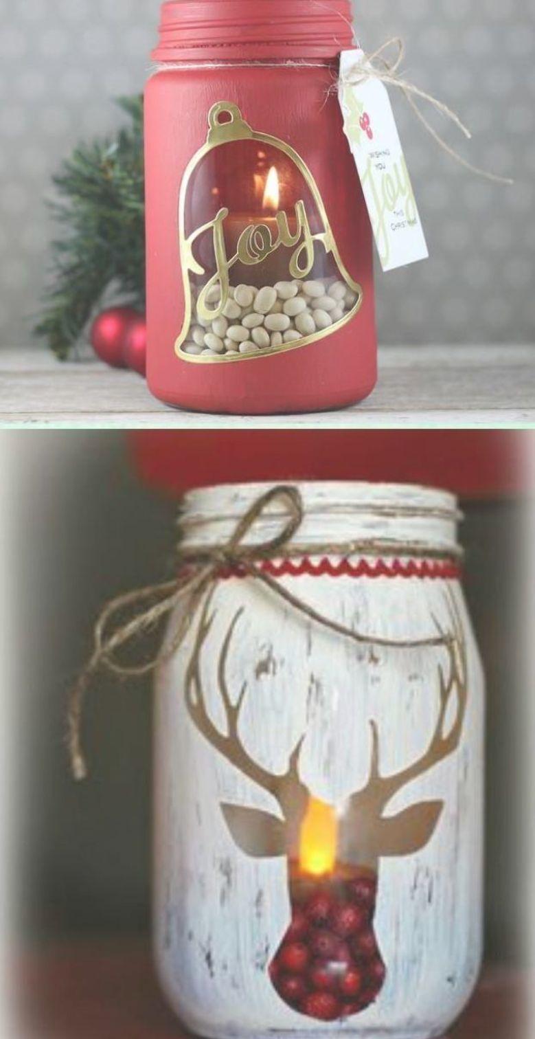 Diy Stenciled Mason Jar Candle Holder Christmas Lights Instruction Diy Christmas Mason Jar Christmas Mason Jars Diy Christmas Mason Jars Mason Jar Crafts Diy