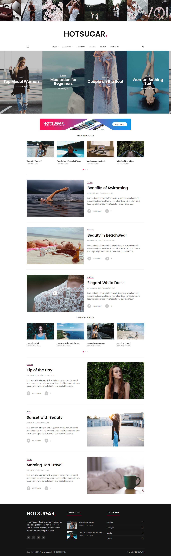 HotSugar | Responsive WordPress Blog Theme | Wordpress template ...