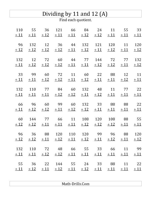 New  Division Worksheet  Dividing By  And