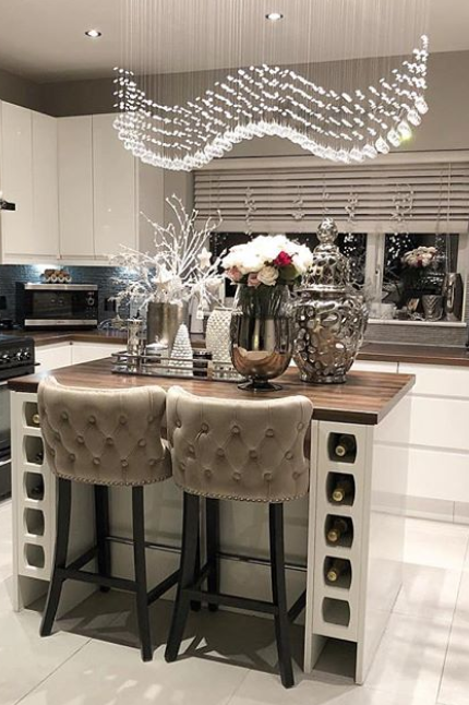 Margonia Bar stool Taupe in 2020 | Home decor kitchen ...