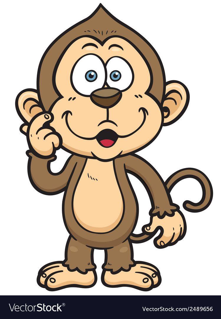 Monkey Royalty Free Vector Image Vectorstock Cartoon Monkey Monkey Pictures Cartoons Png